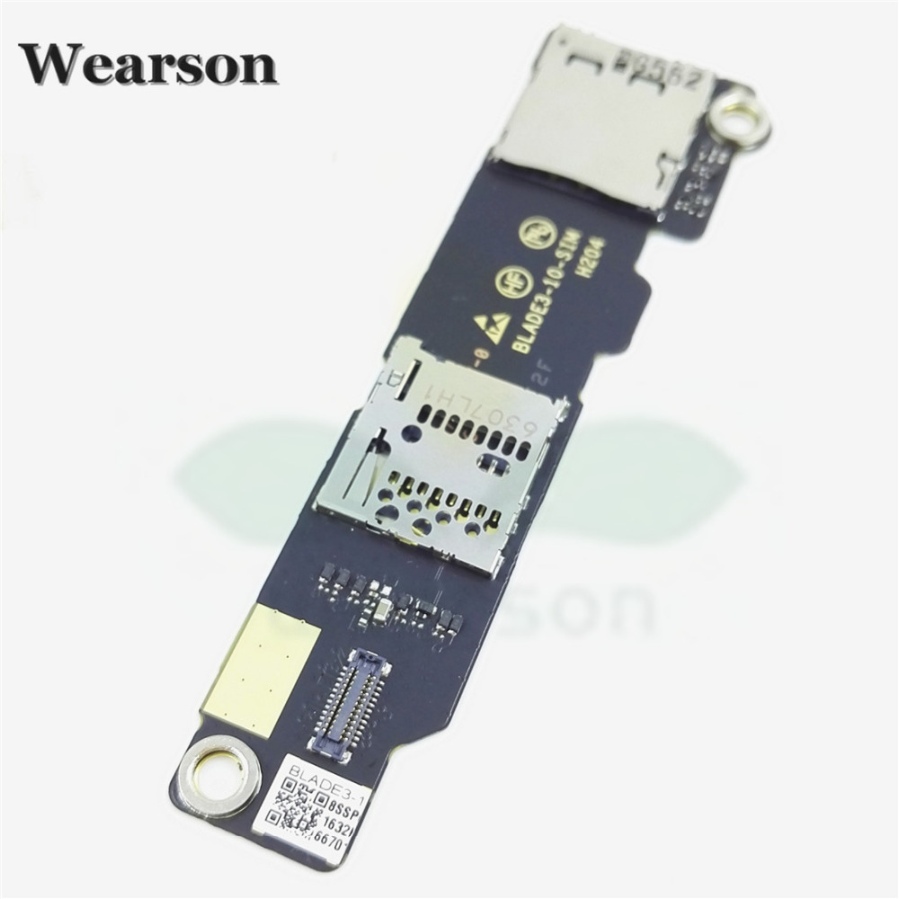 For Lenovo Blade3-10 YT3-X90 Sim Card Slot Memory Card Board 100% Original New Free Shipping With Tracking Number (2)