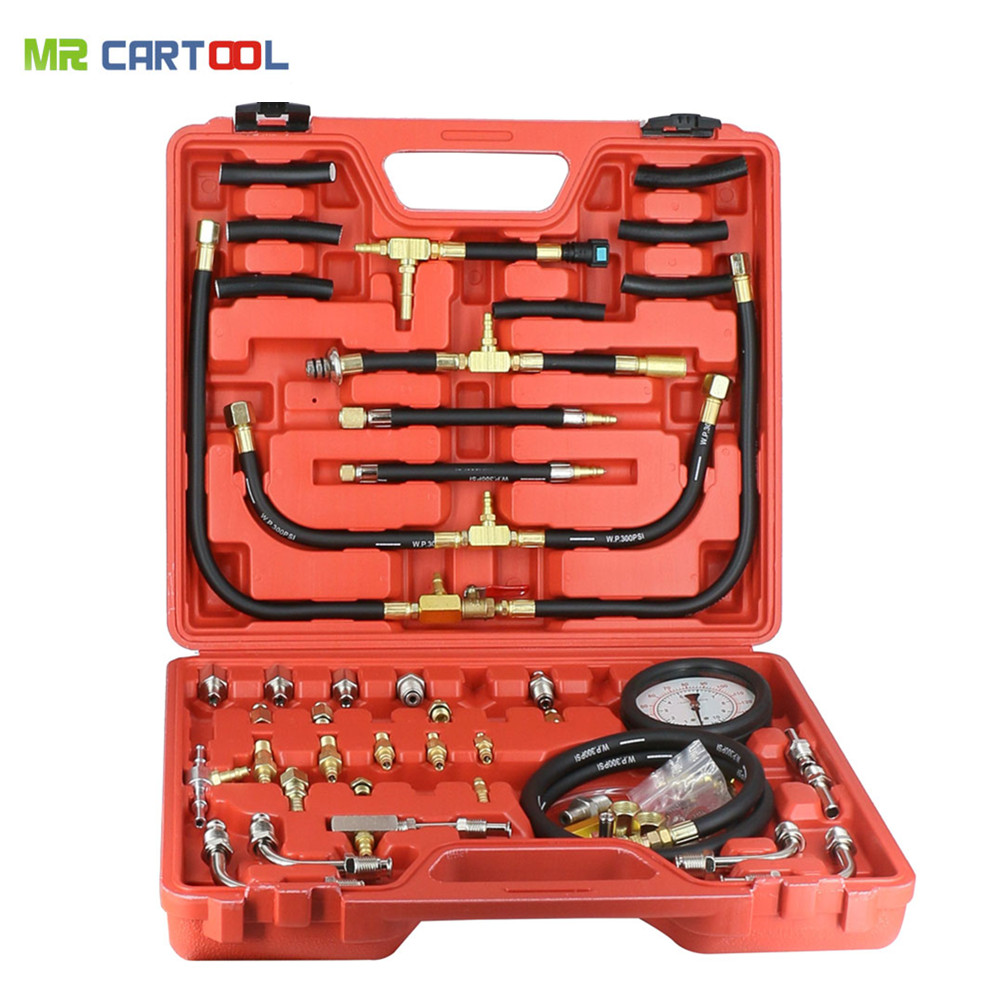 TU-443 Deluxe Manometer Fuel Injection Pressure Tester Gauge Kit system 0-140 psi free shipping