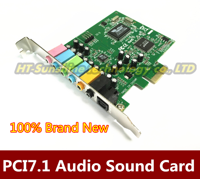 High Quality PCI Express PCI-E 7.1 Bundle Deal 24-bit Sampling Rate 7.1 PCI-e Sound Audio Card Free shipping цена
