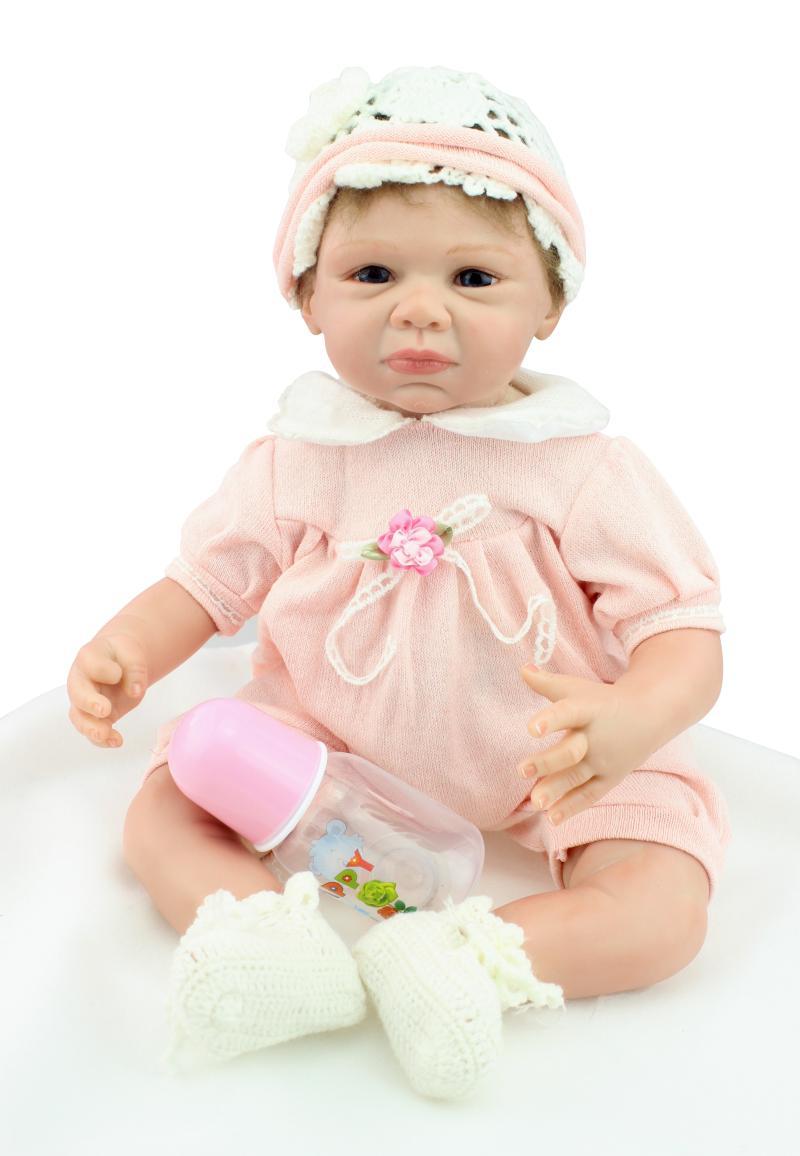 ③Sobre 55 cm silicona renacido bebé muñecas acompañar sueño bebé ...