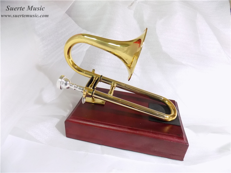 цена Bb/A Key Soprano Slide Trumpet with Stand Brass Body Lacquer Finish Wind Instrumentos Musicais Profissionais