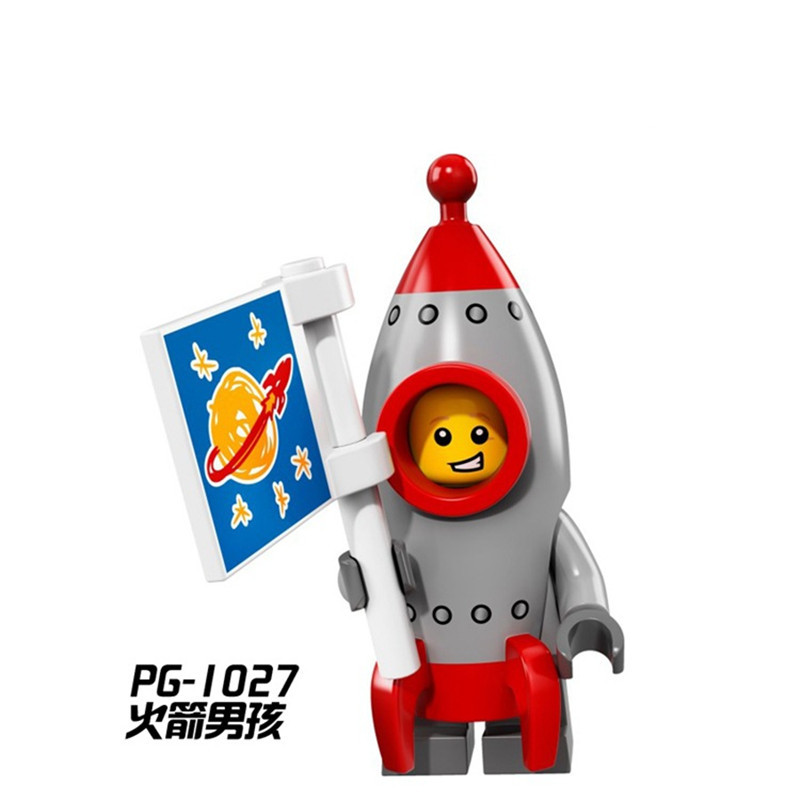 Single Sale PG1027 Rocket Boy DIY Blocks Super Heroes Inhumans Royal Family Models Building Blocks Toys For Children Gifts uncanny inhumans volume 1