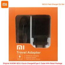 XIAOMI MI 6X QC 3.0 Quick Charger 12V 1.5A EU with Type C Cable Set for Xiaomi  9 8 Se 6 Mix 5s 5c 5 4s 4 Note 2 Redmi 3s 4a 4C