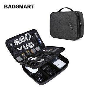 Дорожная сумка-Органайзер для электроники, Портативная сумка для цифровых аксессуаров, сумка для зарядного устройства кабеля, водонепрони...