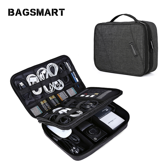Bagsmart Travel Electronics Organizer Bag Portable Digital Accessory For Cable Charger Wire Ipad Waterproof Gadget