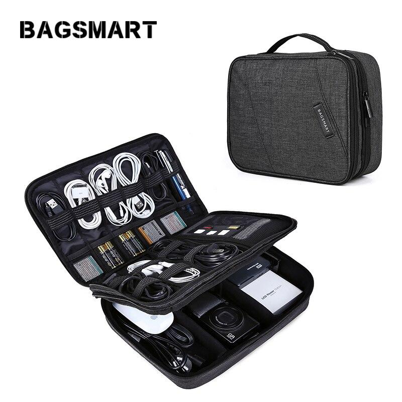 BAGSMART Voyage De L'électronique Organisateur Sac Portable Numérique Accessoire Sac pour Câble Chargeur Fil iPad Étanche Gadget Sac
