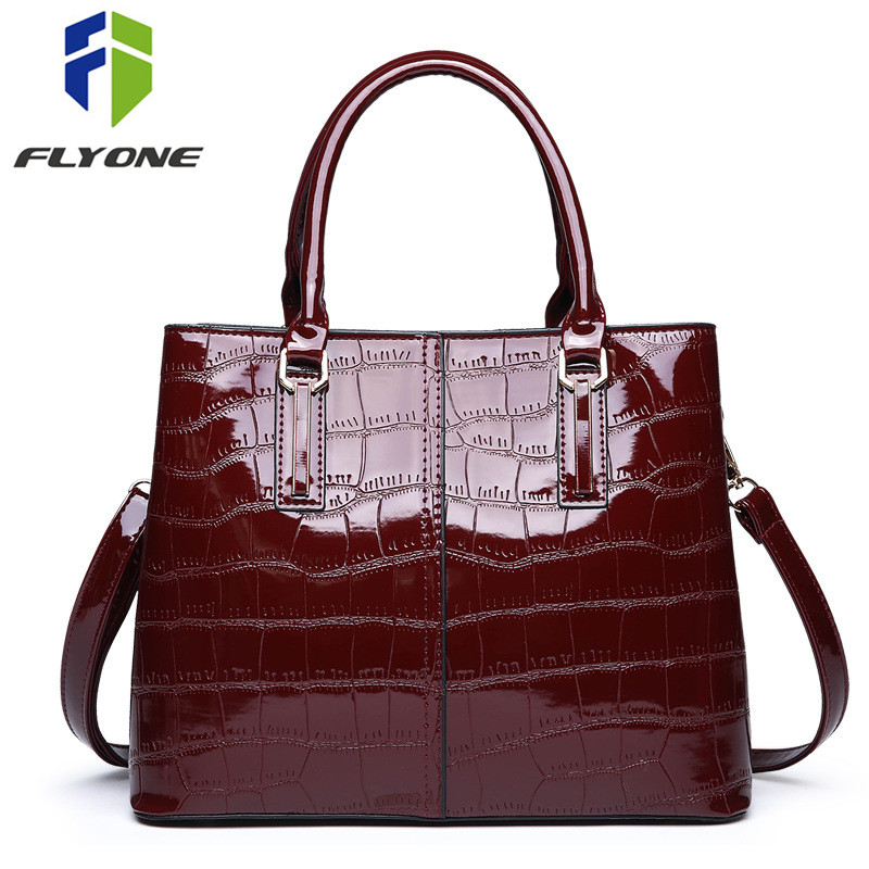 New Fashion Alligator Crocodile Leather Women Handbags Female Shoulder Bag Crossbody Messenger Bags For Girls Evening Bag Purse
