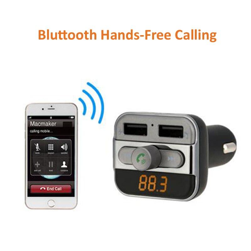 INGMAYA Car Mp3 Player Charger 2 USB 3.4A U Disk TF Card Bluetooth - Reservdelar och tillbehör för mobiltelefoner - Foto 4
