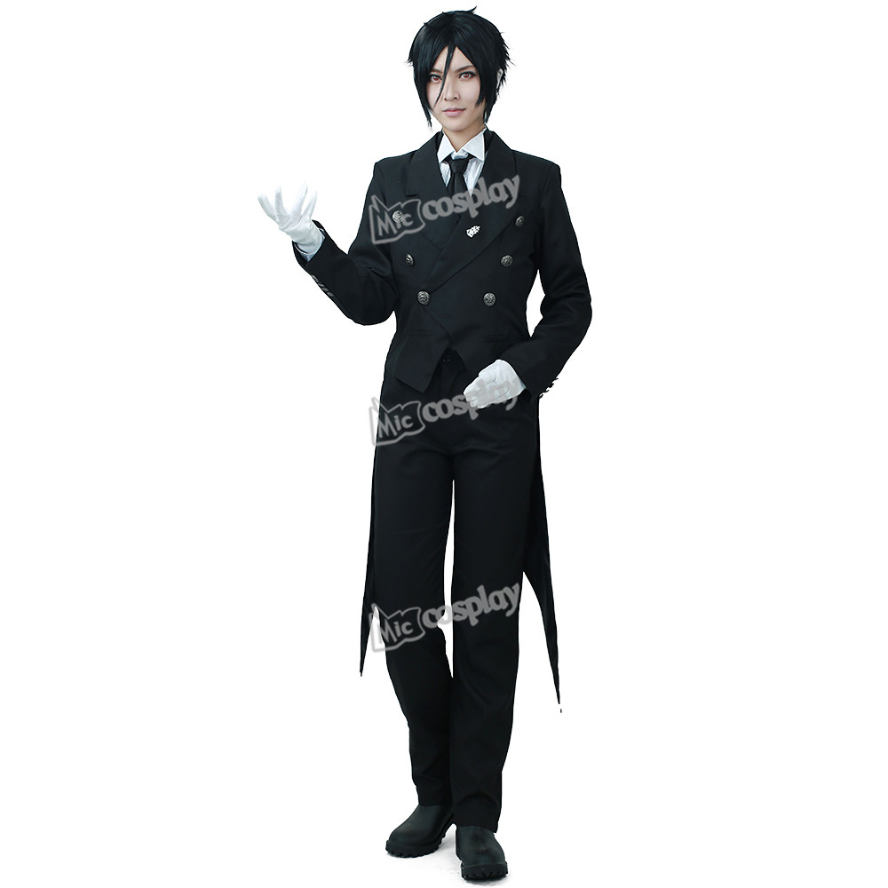 Anime New Hot Black Butler Sebastian Michaelis Cosplay Costume Halloween Unisex Party Clothing