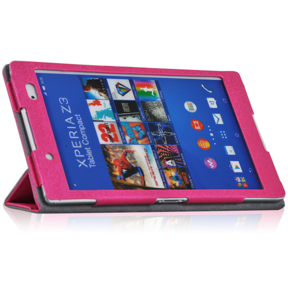 Case for Sony Xperia Z3 PU Leather Cover Case for Sony Xperia Z3 Tablet Compact SGP621 8'' Tablet Case Folding Stand and Stylus`