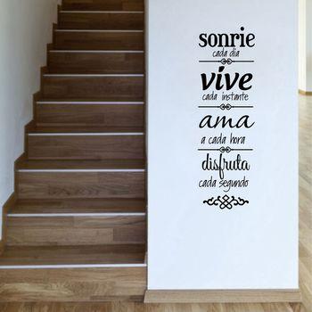 Frete grátis casa espanhola regras adesivo de parede decoração para casa, versão espanhola normas de casa vinilos decorativos