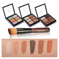 Useful Party Shimmer Highlighting Concealer 6 Colors 3D Concealer Contour Powder Cream + Foundation Brush Makeup Tool