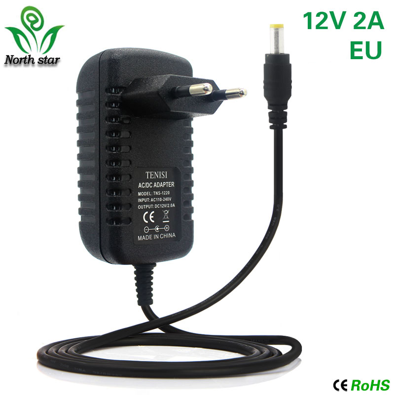 AC TO DC Output 12V 2A 24W US Power Supply Adapter For 3528 5050 RGB LED Strip