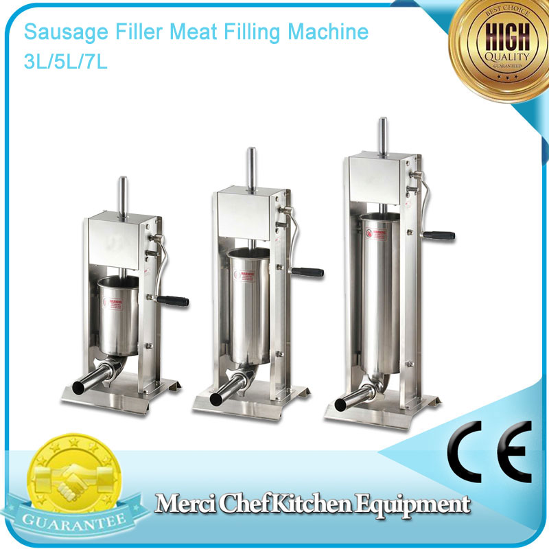 brand new 3L/5L/7L Sausage Filler Meat Filling Machine Manual Stuffer Commercial Food Processors protective cover flip stand leather case for meizu mx4