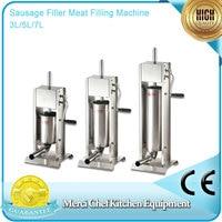 Brand New 3L 5L 7L Sausage Filler Meat Filling Machine Manual Stuffer Commercial Food Processors