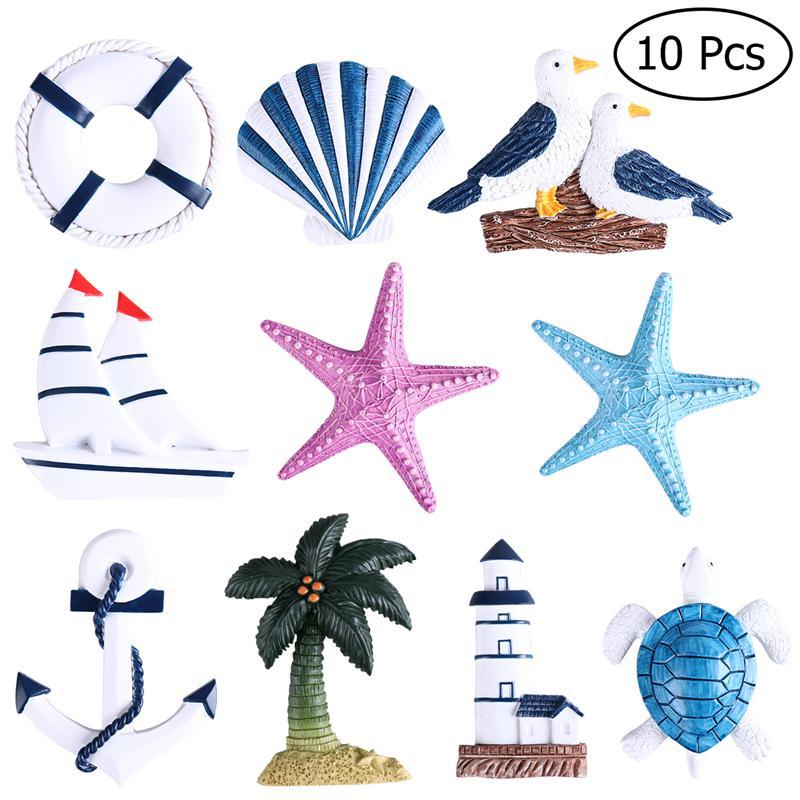 10Pcs Nautical Beach Boat Ship Turtle Sea Star Shell