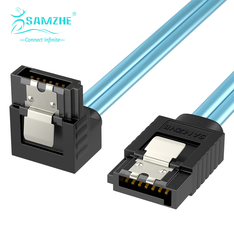 SAMZHE SATA III 6.0 Gbps Cable with Locking Latch for Hdd SSD DVD PC Computer Data Cable 50/100cm