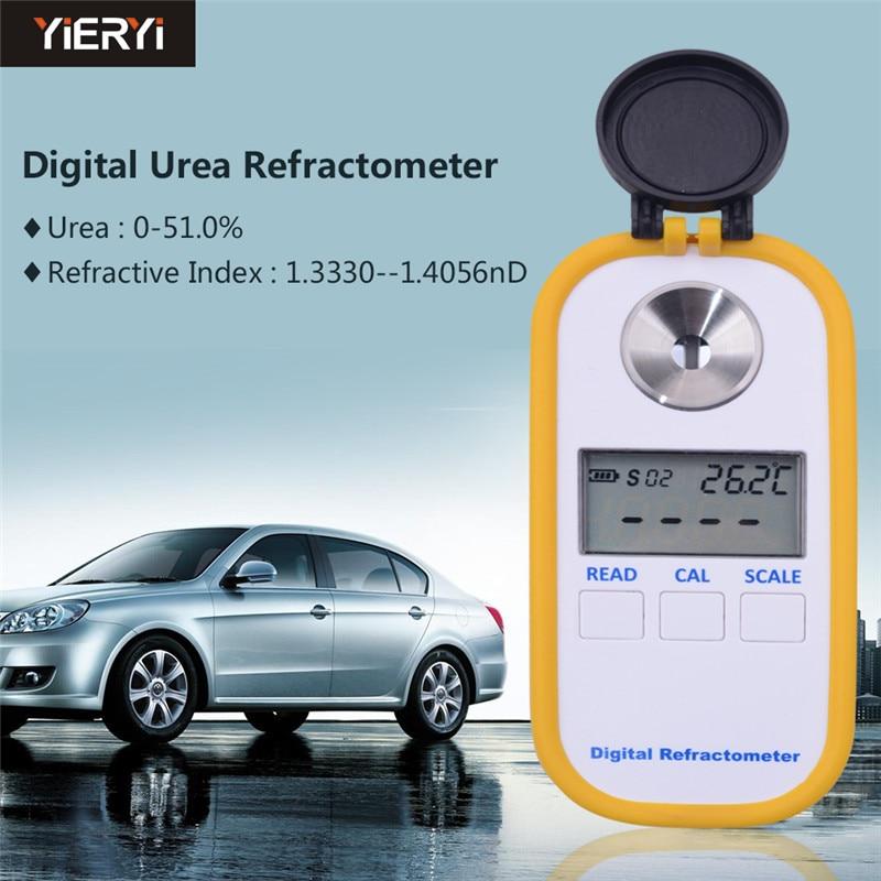 Yieryi DR602 Refratômetro Digital Veículo Medidor de Concentração De Uréia Uréia 0 ~ 51% Índice De Refração 1.3330 ~ 1.4056nD