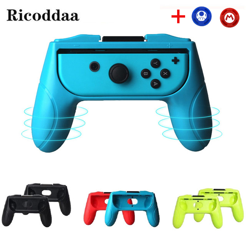 Video Games Oivo Dustproof Protective Cases 1 Pair Controller Grips Handle For Nintend Switch Left+right Abs Joystick Grip Anti Scratches