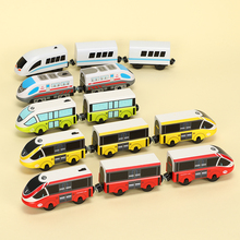 Thoma Wooden Tracks Train Set Toys Diecast Railway Magic Education Brio Magnetic Electric Wood Puzzles For Children