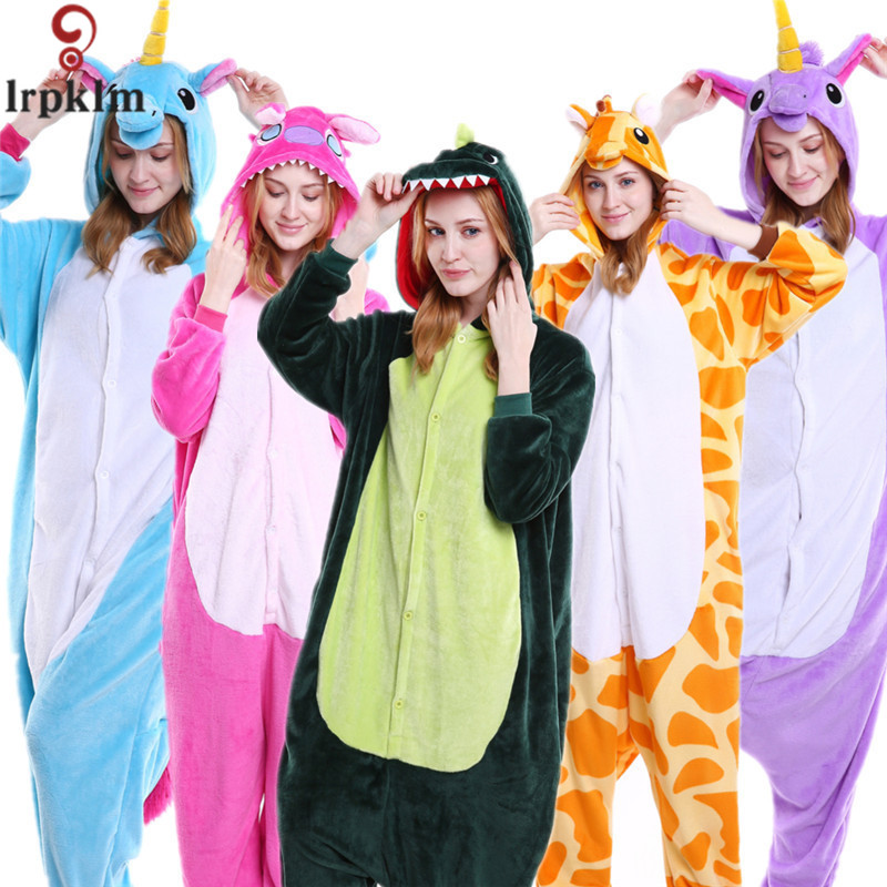 kigurumi adults panda Pajamas women men Pyjama unicorn pajamas Halloween Anime Kigurumi Adult Flannel Cartoon cute SY845