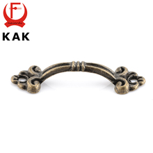 10pcs KAK Handles Knobs Pendants Flowers For Drawer Wooden Jewelry Box