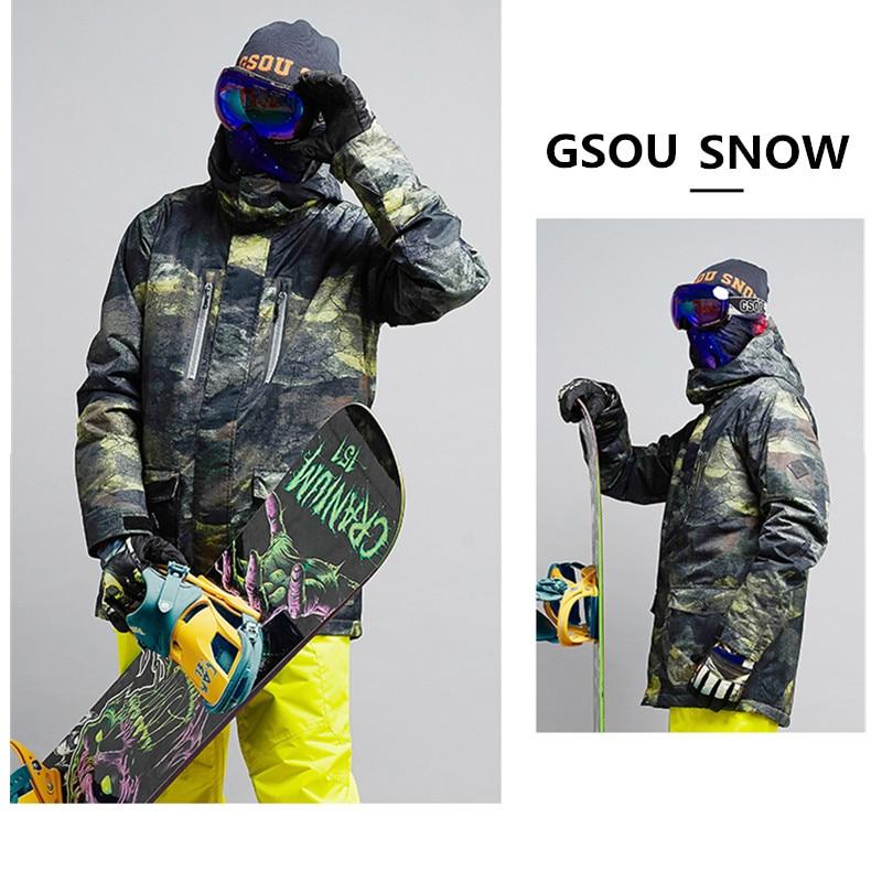 Gsou Snow Brand Ski Jacket For Men Snowboard Jacket Waterproof Mountain Ski Sport Winter ...