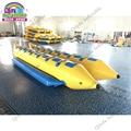 14 мест надувная Летающая рыбка водная лодка буксируемая надувная см Банановая лодка с двойными трубами