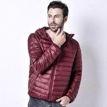 2017 new winter hooded jacket slim men outwear Coat Lightweight padded parka Plus size solid waterproof windbreaker jacket