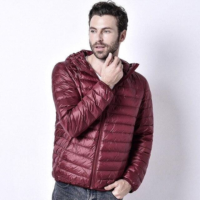 2017 new winter hooded jacket slim men outwear Coat Lightweight ...
