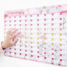 2019 Planner 100 Day Calendars Plan Book Cute Cartoon Paper Ideas Kawaii Stationery School Office Supplies Agenda