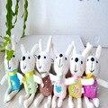 6 unids/lote 12 cm lindo Peter conejo Metoo pequeño muñeco de peluche llavero colgante mini boda lanzamiento de regalos regalo venta al por mayor