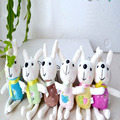 6pcs/lot 12cm cute Peter Metoo rabbit small plush doll keychain pendant mini Wedding throwing gifts gift wholesale