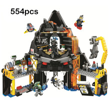 2019 New Garmadon's Volcano Lair Blocks Toy Compatible Legoinger Ninjagoes 70631 Building Blocks Toys for Children Birthday Gift lepin nexo knights axl jestros volcano lair combination marvel building blocks kits toys figures compatible nexus 181