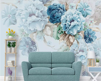 beibehang wall papers home decor Mural Nordic fresh hand-painted peony flower wallpaper 3d living room wallpaper TV background beibehang wallpaper 3d retro nostalgic steam train cafe bar mural background wall home decor living room bedroom 3d wallpaper