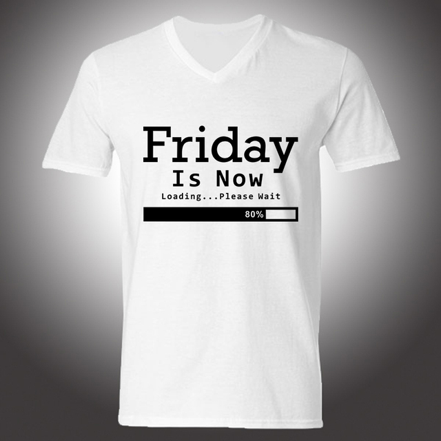 Hot Sale Friday Is Loading T Shirts Hip Hop Funny Tshirts Men Tops ...