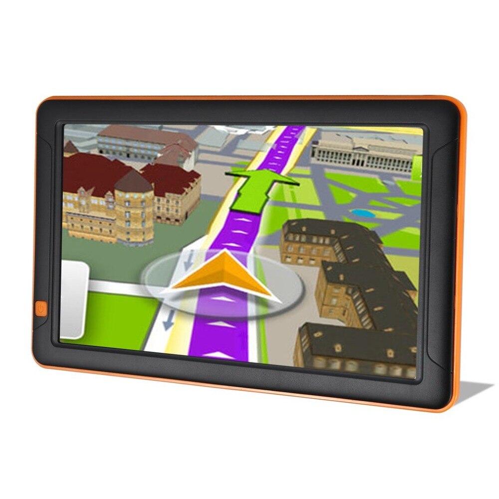 Écran universel de résistance de Navigation de voiture de 9 pouces Hd Gps 8g carte gratuite émetteur Fm véhicule Gps navigateur Automobile