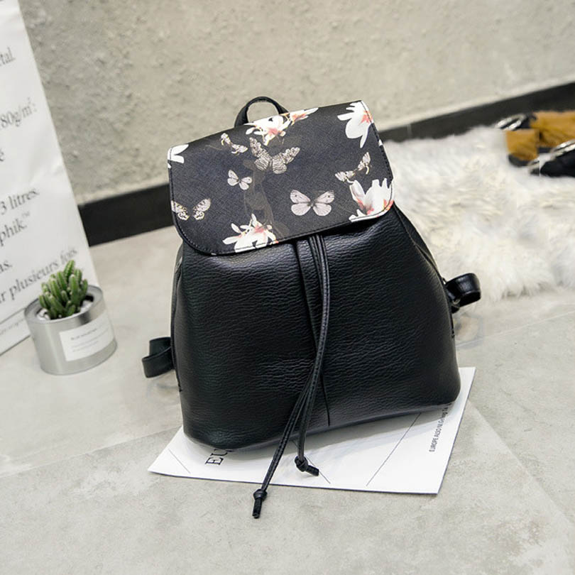 Simple Style Women PU Leather Backpacks For Teenage Girls School Bags Casual Solid String Softback Shoulder Bag Ladies Rucksacks women backpack large school bags for teenage girls shoulder bag vintage pu leather backpacks black casual solid rucksack xa83h