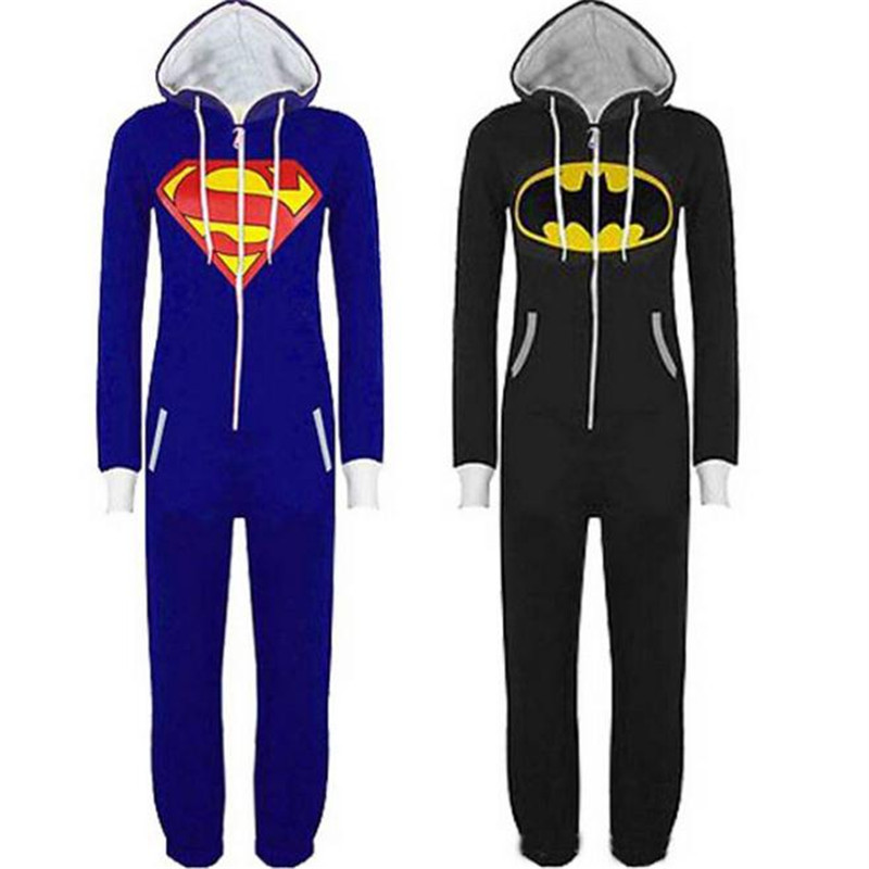 Batman Superman Cosplay Costume Cartoon Anime Jumpsuits Set Leisure Wear Home Clothes Christmas Party Halloween Costume For Men