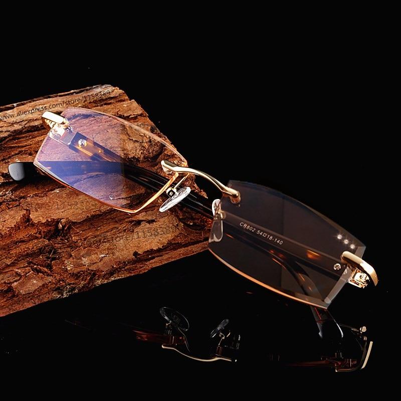Kualitas tinggi memotong lensa kacamata presbiopia kacamata baca persegi mode presbyopic untuk pria hyperopia