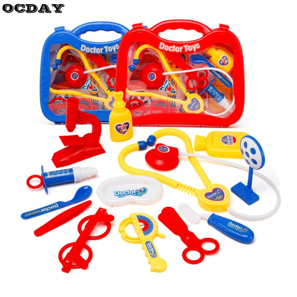 OCDAY 13PCS Doctor Pretend Play Toys Set for Kids Educational Toy Medical Kit Kids Role  ...