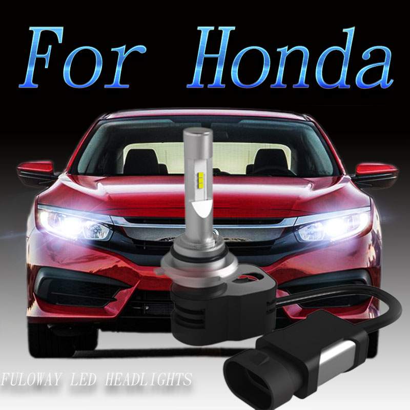 купить 2pcs Car Headlight H7 H4 LED H8/H11 HB3/9005 HB4/9006 H1 9012 Auto Bulb Headlamp Light for Honda Civic CRV Fit Accord HRV City онлайн