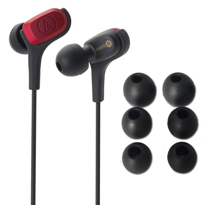 Оригинал Audio Technica ATH CKB70 проводные наушники подвижные железные для Iphone Xiaomi huawei для samsung ANDROID iOS наушники для контроля звучания - 5