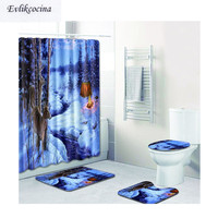 Free Shipping Snowy Elk Wakling Casa De Banho Banyo Bathroom Carpet Bathmat Set Non Slip Tapis Salle De Bain Alfombra Bano