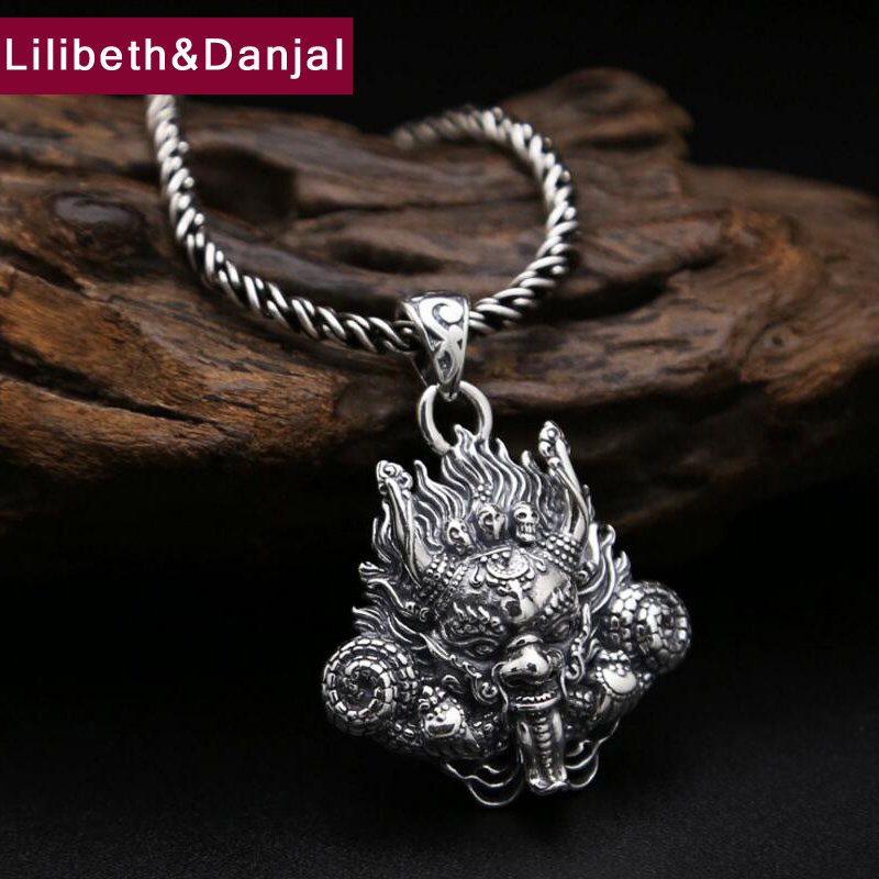 2017 925 Sterling Silver Necklace Men Jewelry Buddha Vintage Dragon Rope chain Pendant Necklace women LOVE Gift Fine Jewelry N20 все цены