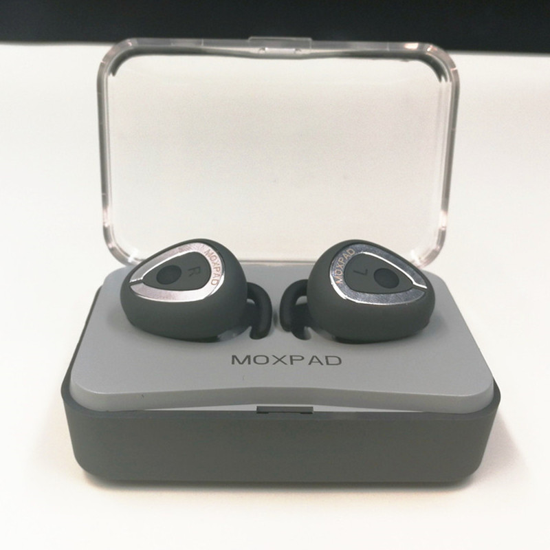 Original Moxpad M6 Wireless Earphones Separating Earbud Bluetooth 4.1 TWS Earphones Stereo Music Headsets with Charge Case