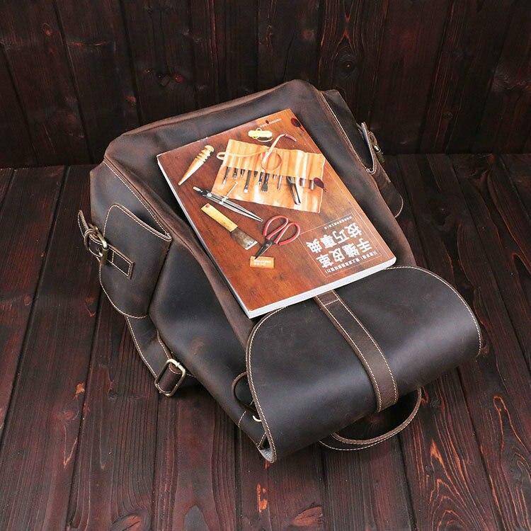 Braun Leder 1 Frauen Weibliche Tasche Rucksäcke Horse Crazy Echtem Marke Retro Schulter Luxus Reisetasche Männer Und qfZtOn4x