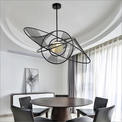 Planet villa chandelier led micro art post-modern art restaurant modern simple fashion living room creative personality LU725223 private villa living room chair retail