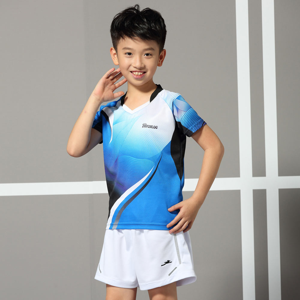 Short Sleeved Badminton Table Tennis Team Uniform Sports T-shirt Amicable Adsmoney Childrens Fast Drying Breathable Tennis Suit Short Curing Cough And Facilitating Expectoration And Relieving Hoarseness