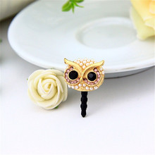Owl 3.5mm Dust Plug Cap Cell for iPhone Samsung
